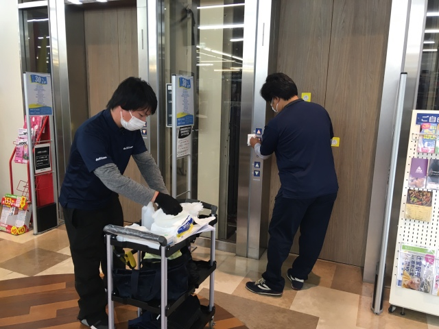 施設抗菌の加工の実施